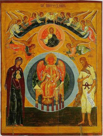 Icon of Sophia from warm St. George church in Vologda (late 16 century)