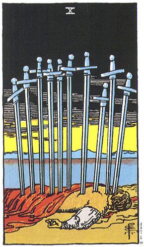 Zehn Der Schwerter Im Tarot Edition Ewige Weisheit