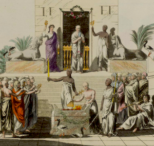 Wellcome Library, London, Egypt: ceremonies of the cult of Isis, 1804 - 1811, Robert von. Spalart - ewigeweisheit.de