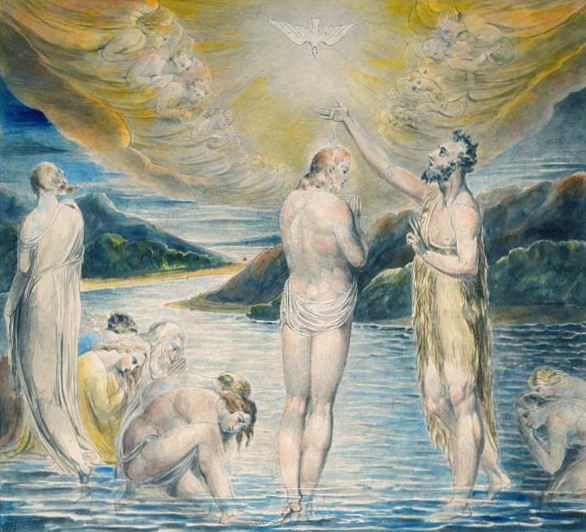The Baptism of Christ, 1803 - William Blake - ewigeweisheit.de