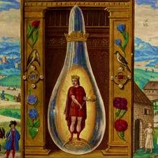 Bild aus dem Splendor Solis - Der Rote König - ewigeweisheit.de