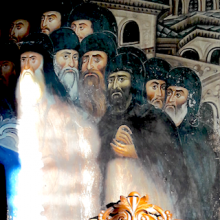 Wandgemälde auf dem Athos - ewigeweisheit.de