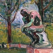 Rodin: Denker, Gemälde Munch - ewigeweisheit.de
