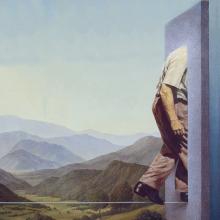 Landschaft mit Seiltänzer, Gemälde von Joachim Kupke