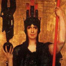 Franz Stuck (1863–1928): Pallas Athena, 1898. Quelle: Wikipedia - ewigeweisheit.de