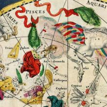 Ausschnitt aus der Sternkarte Planisphæri cœleste von Frederik de Wit