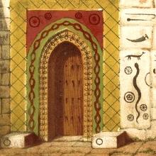 Eingang zum Tempel des Sheikh Adi in Lalish  - ewigeweisheit.de